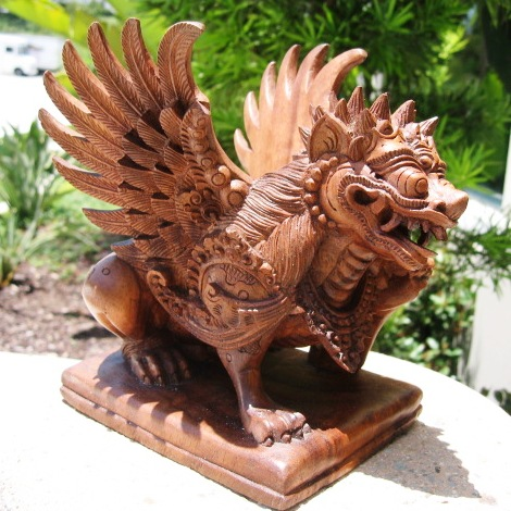 Hand Carved Small Garuda Statue From Bali