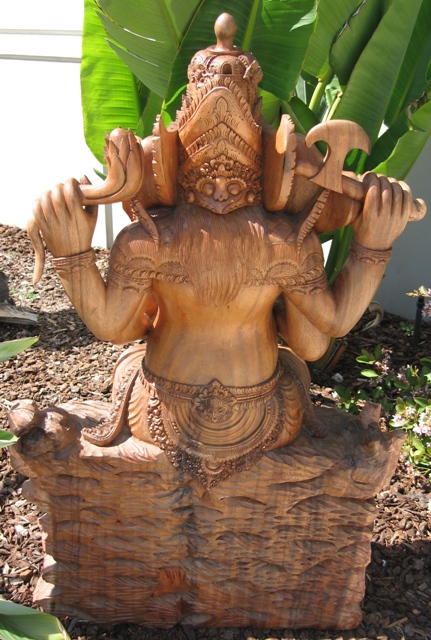 Hand Carved Ganesh From Bali