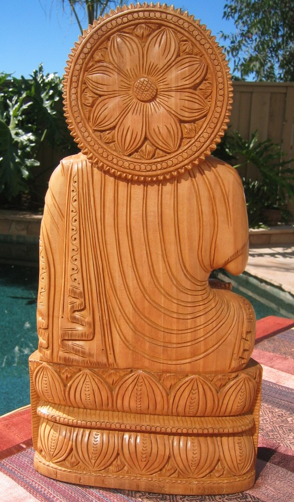 Hand carved buddha from india