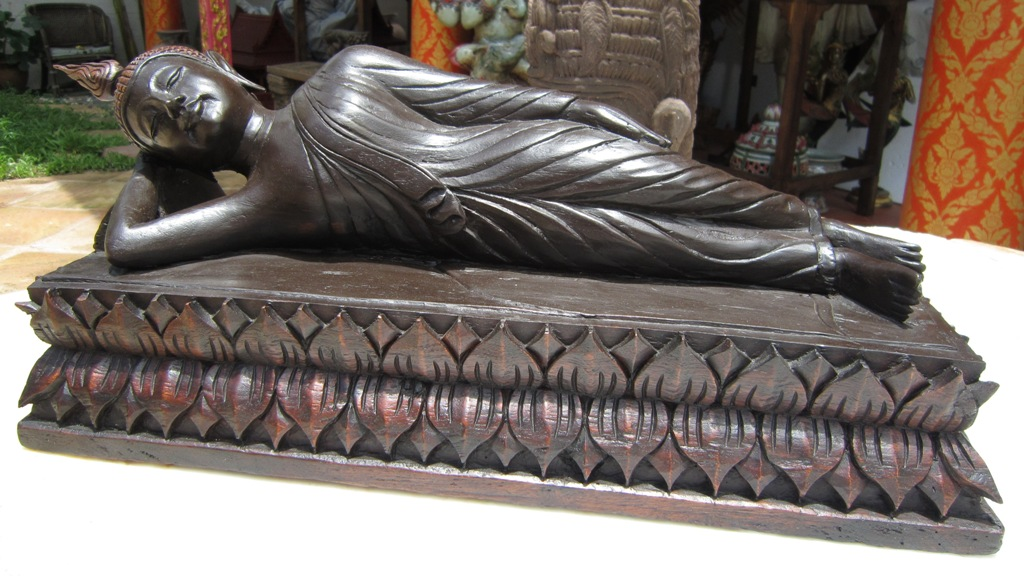 Hand carved reclining buddha tuesday