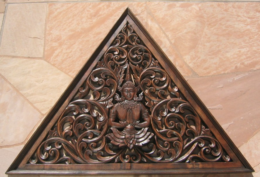Triangular Teak Wood Panel