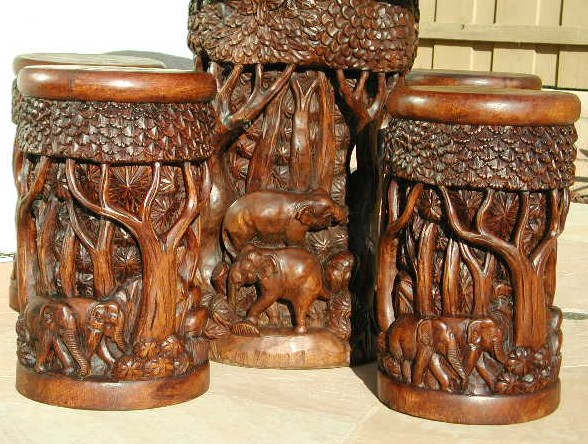 Hand Carved Furniture Set