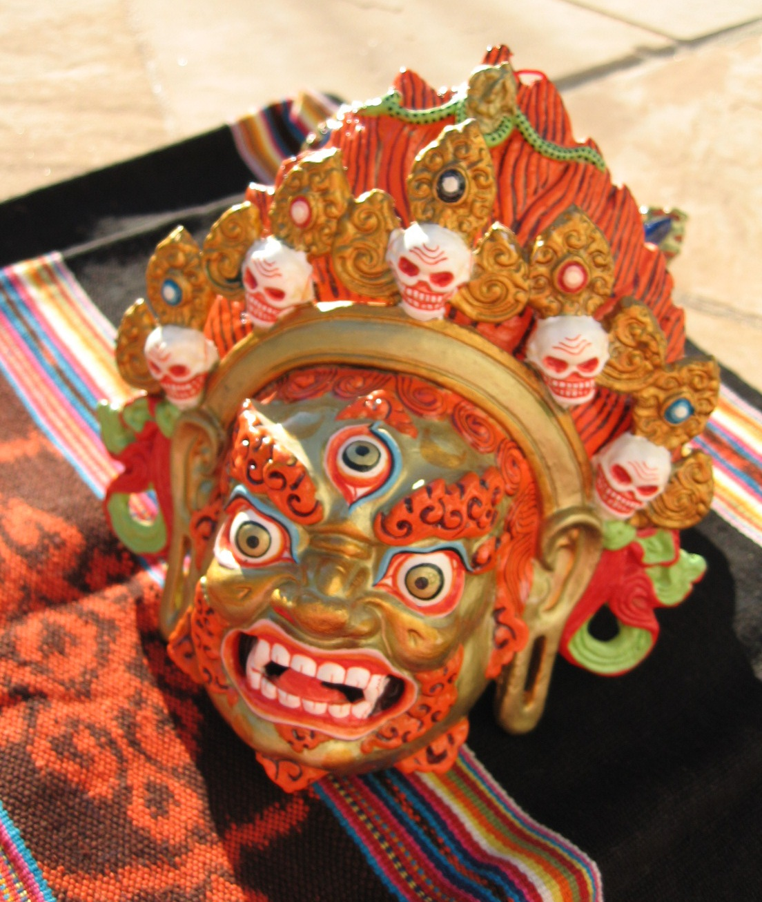 Tibetan Wrathful Deity Mask