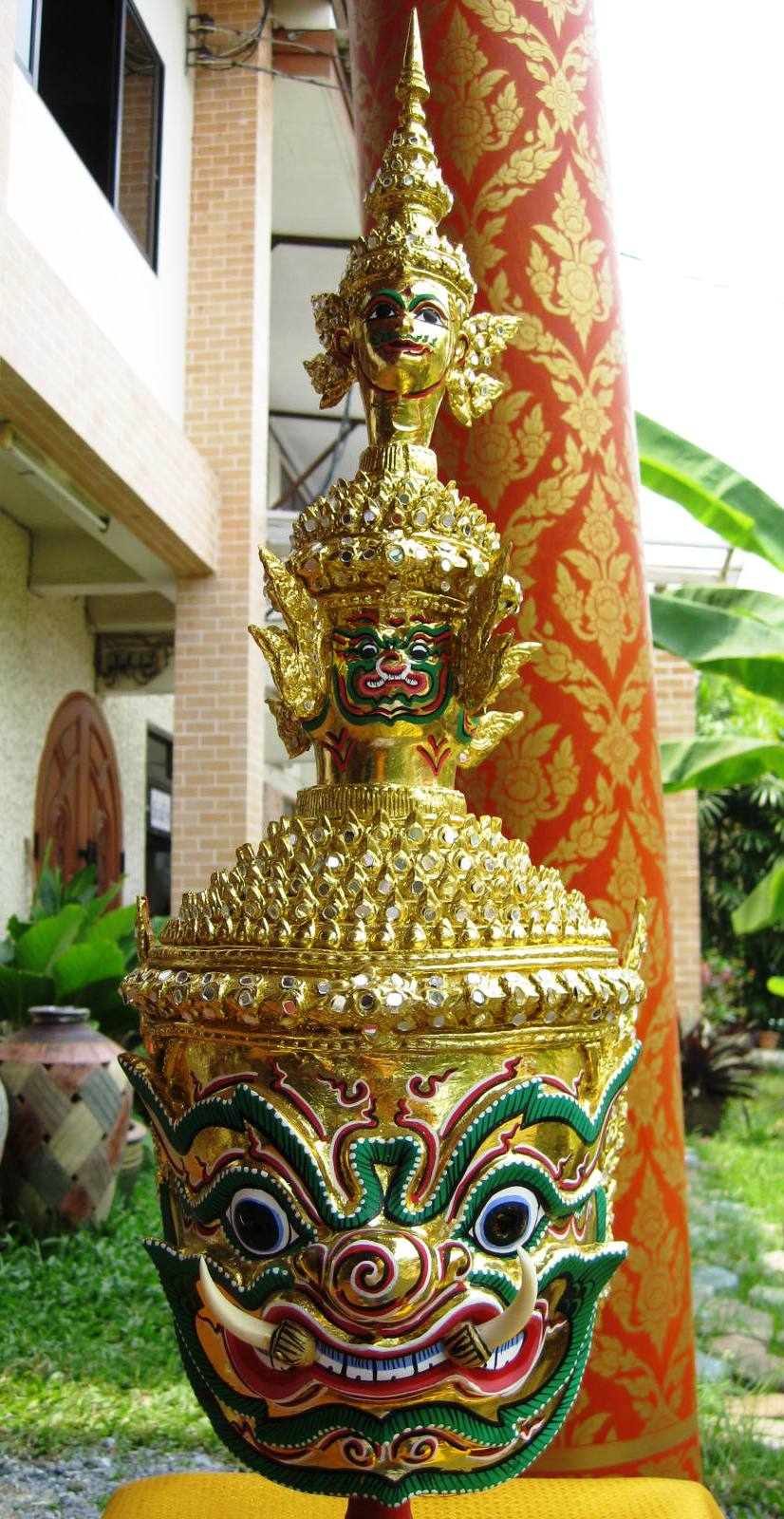 Totsakan paper mache Gold Finish