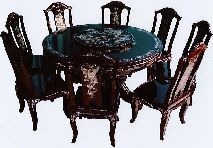 Dragon U0026 Phoenix Round Dining Table