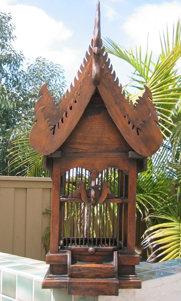 Teak Wood Thai Bird House