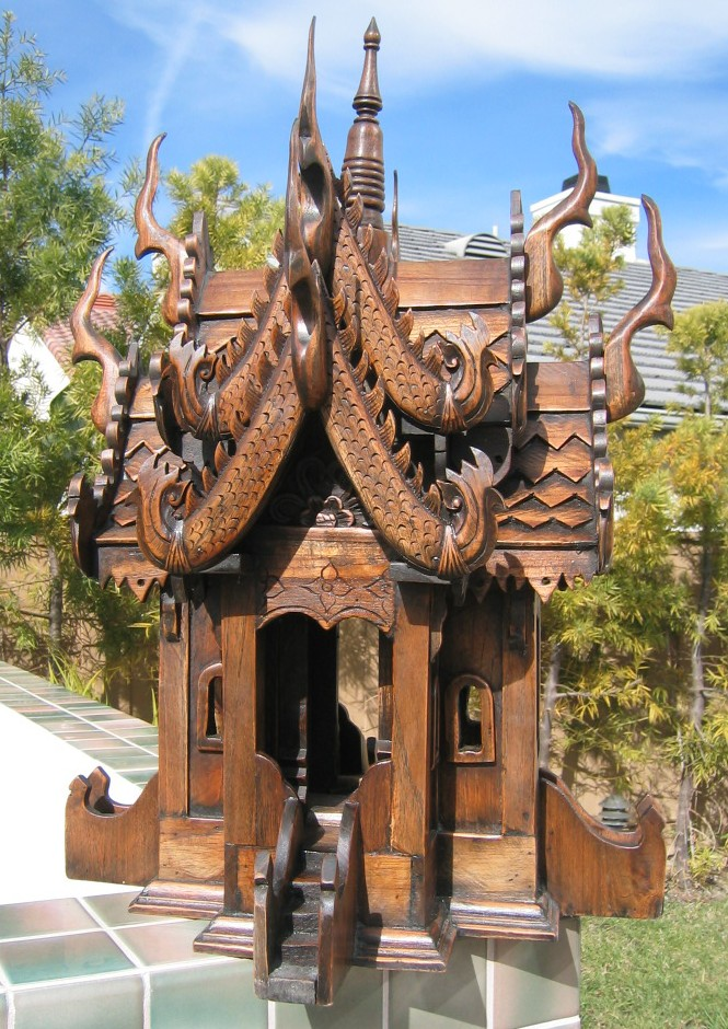 Teak Wood Thai Spirit House