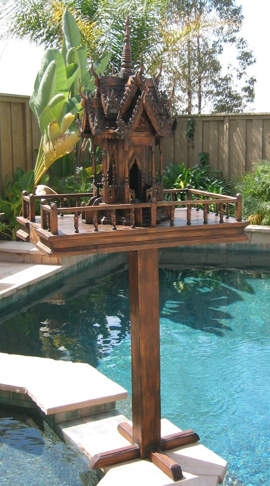 Teak Wood Spirit House Stand
