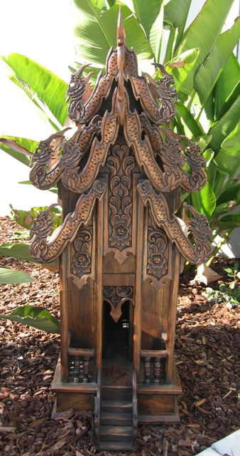 Extra Large Thai Spirit House Teak Wood