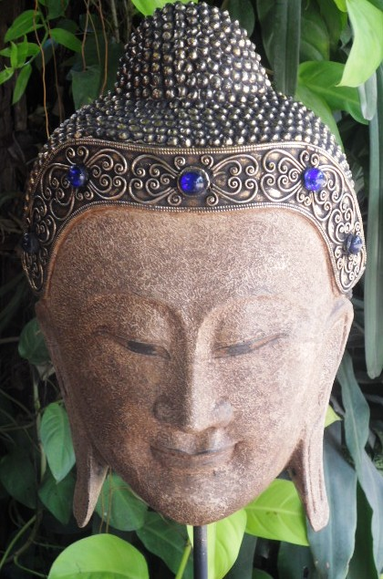 Buddha Head on Stand