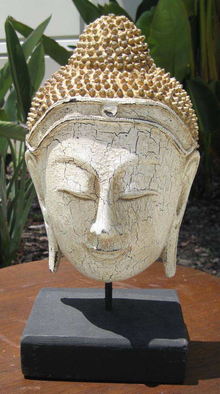 Half Buddha Head on Stand