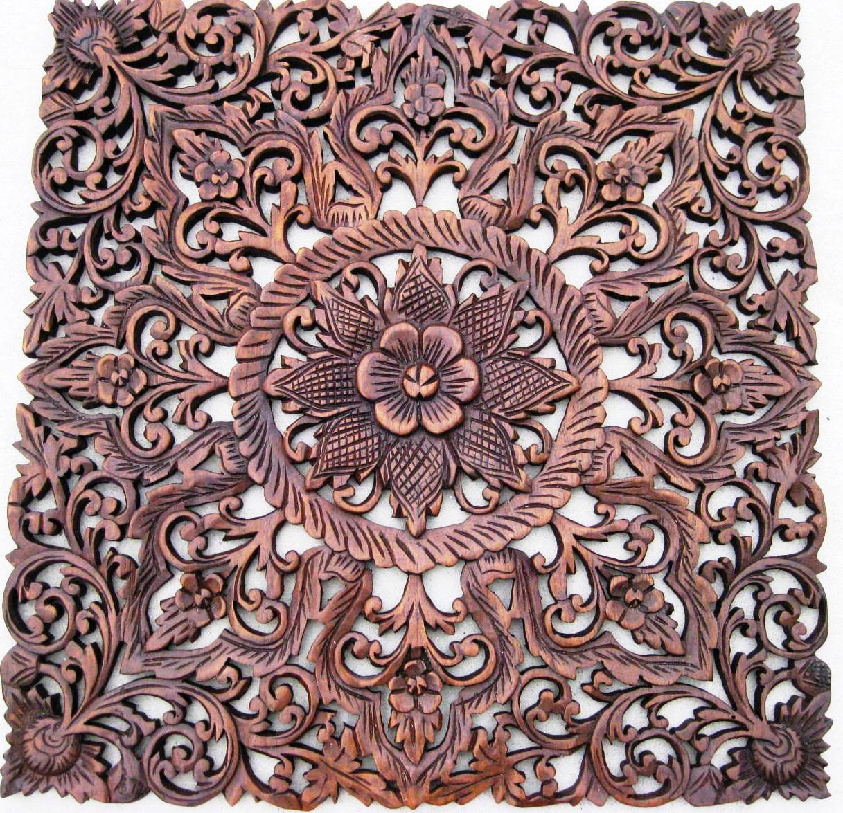 2'x2' Teak Wood Panel Mahogany ... - Custom Hand Carved Teak Wood Panels/ Hand Carved Teak Wood Panels