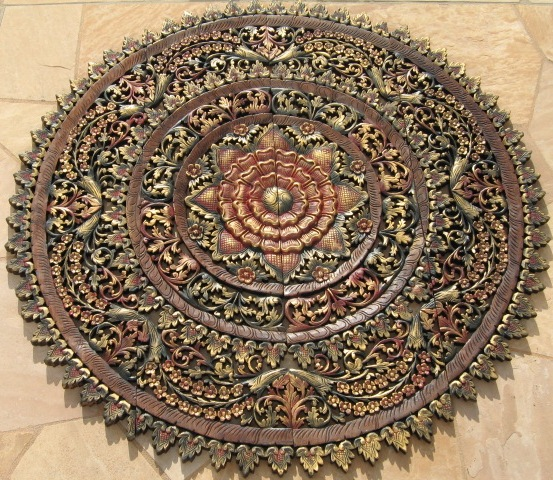 4ft Round Gold Multi Color Panel
