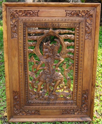 Hand Carved Panel from Ubud, Bali