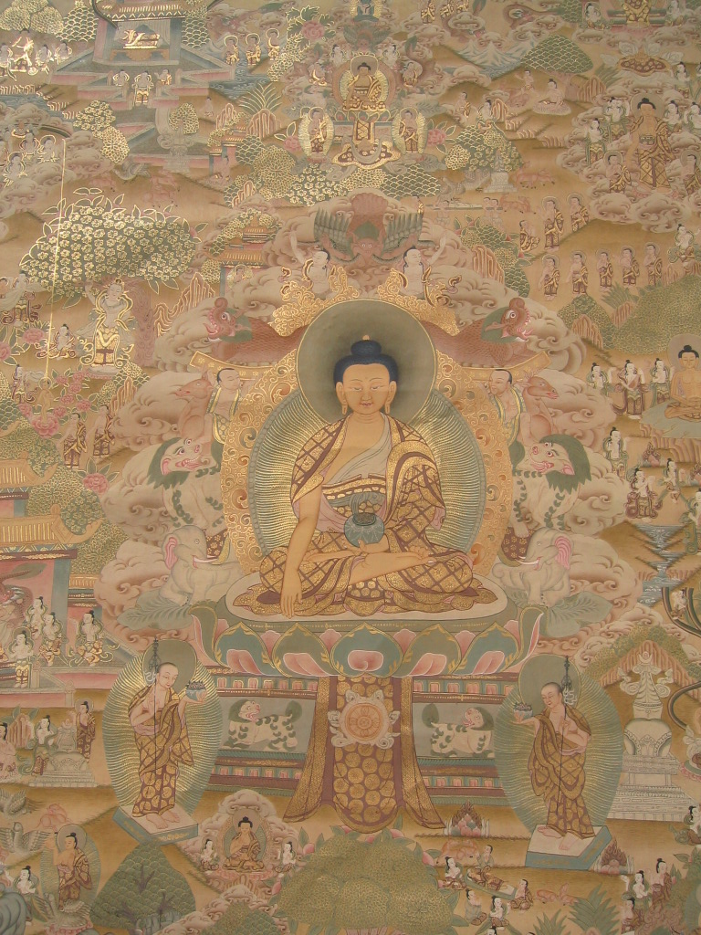 Large Buddhist Thangka from Tibet