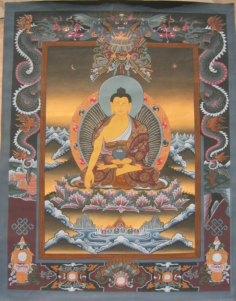 Sakyamuni Thangka from Tibet